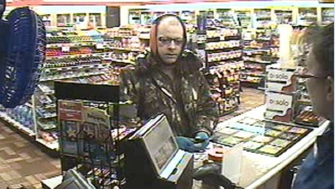 The Green Bay Police Department is seeking information about the location of robbery suspect Brent Fink, 31, of Green Bay.
