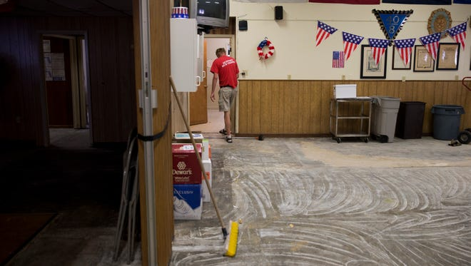 The American Legion Hardee R. Mills Post 135 suffered flood damage from roughly eight inches of standing water as a result of Hurricane Irma. Damage can be seen Tuesday, September 26, 2017, in East Naples.