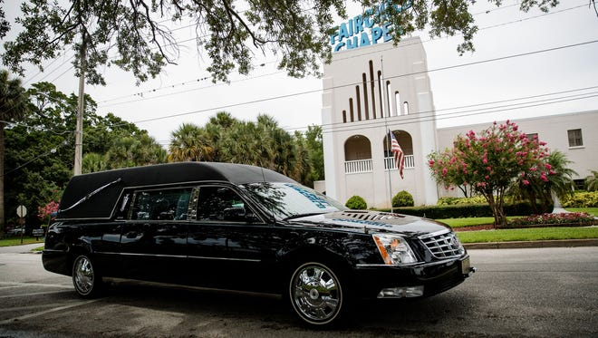 A funeral procession for one of the Orlando nightclub victims resulted in injuries to two sheriff's deputies Saturday.
