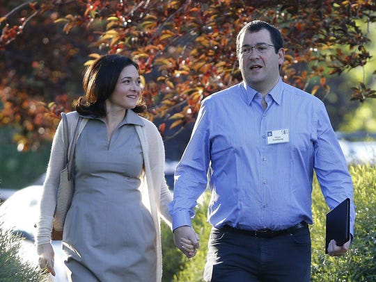 Sheryl Sandberg and husband Dave Goldberg in Sun Valley,