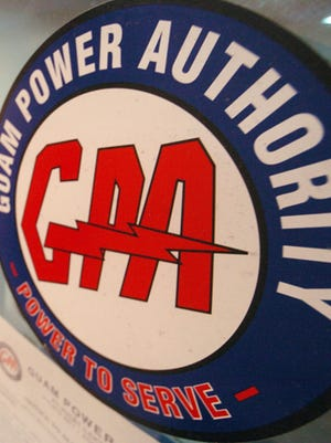 Guam Power Authority logo photographed at the agency's offices.