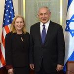 Sen. Kirsten Gillibrand, D-N.Y., met with Prime Minister Benjamin Netanyahu in Israel on Jan. 6, 2015.