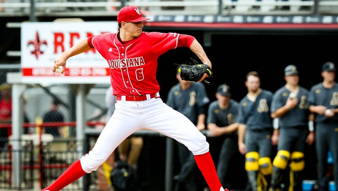 UL pitcher Nick Lee lasted just 4.1 innings in Saturday's loss to Appalachian State.