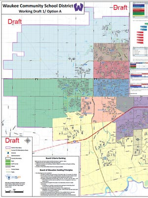 A proposed change to the Waukee Community School District's boundaries.