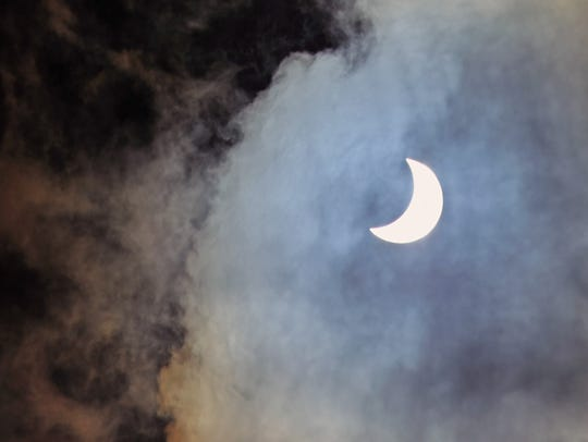 Several days before Harvey, a solar eclipse captured