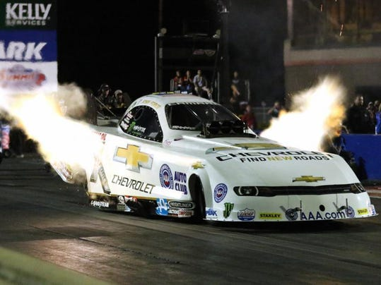 John Force fire