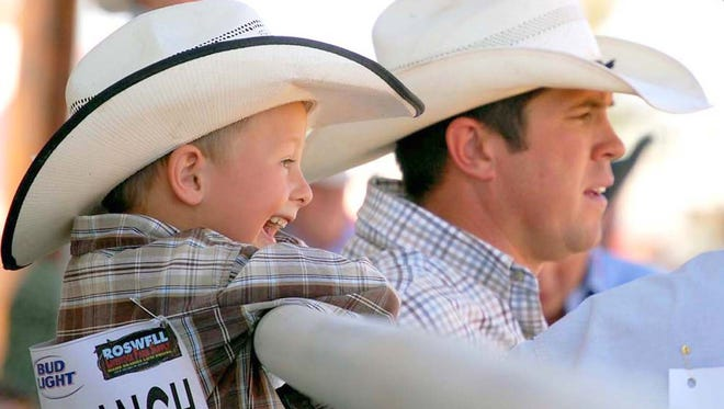 Young and old share in the fun excitement of a ranch rodeo during the Southwestern New Mexico State Fair, Oct. 5-9 in Deming.