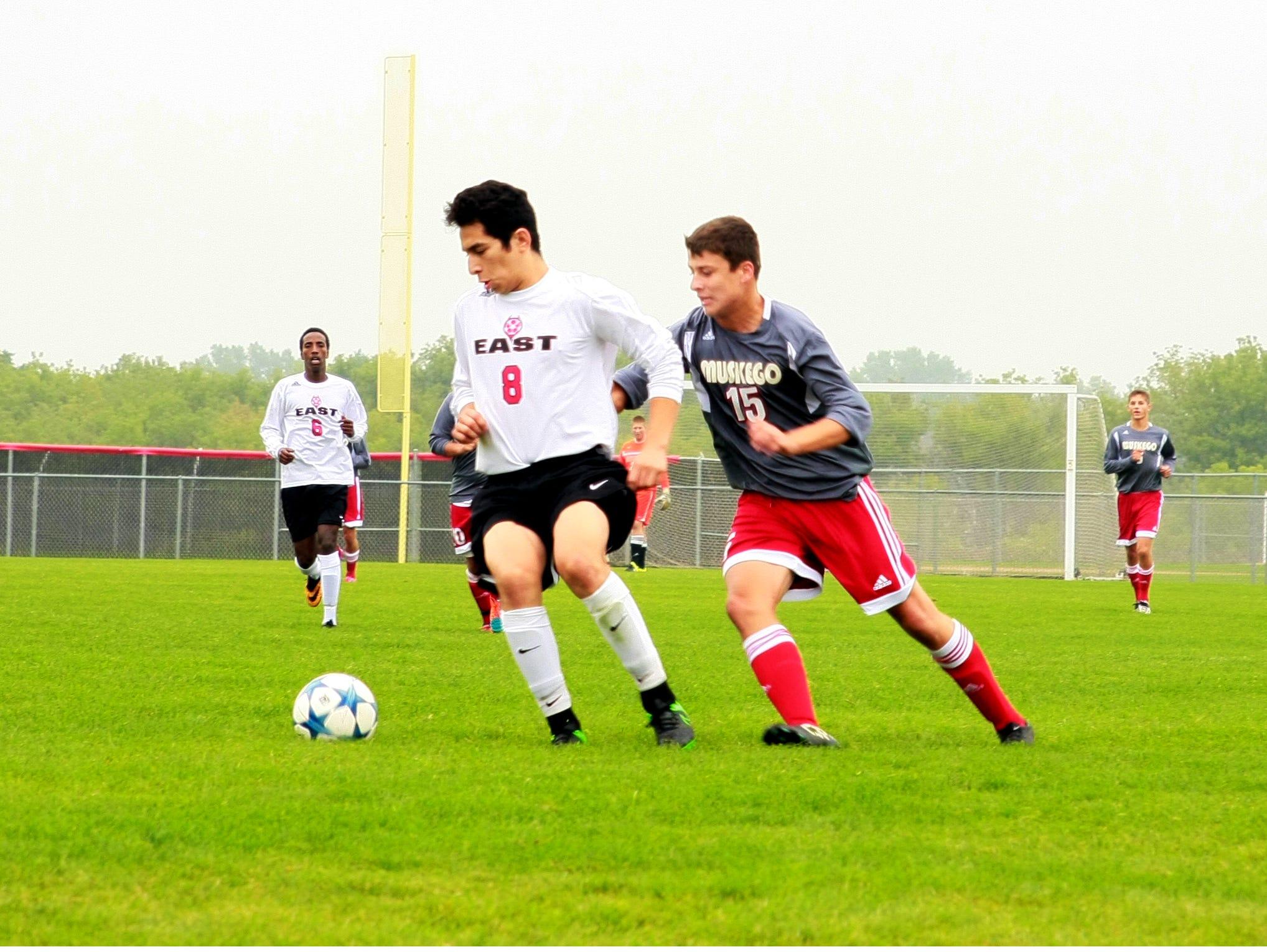 Green Bay East senior defender Tony Ramirez (8) will help lead the Red Devils.