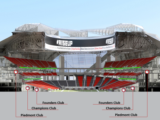 Falcons every new seat will require license purchase for Mercedes benz stadium psl