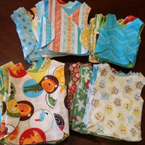 Lindsay Conner received several donations of NICU smocks to give to Vanderbilt and other local hospitals.