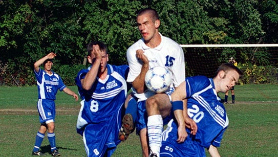 From 1999: Bob Broderick (middle) competes for Waldwick