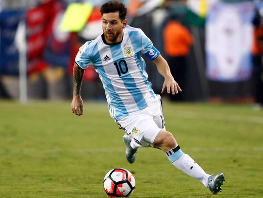 Argentina's Lionel Messi the obstacle in front of USA's ...
