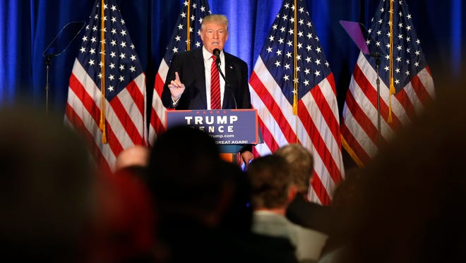 Donald Trump speaks in Youngstown, Ohio, on Aug. 15, 2016.