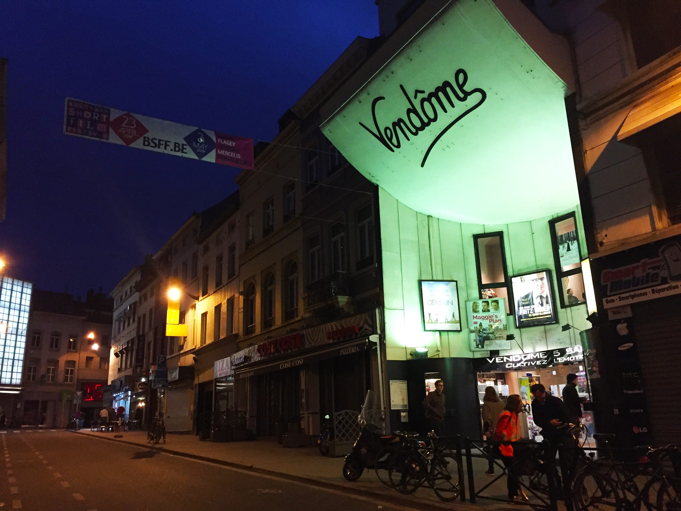 """One of the cinemas in Brussels where""""Wolff's Law"""" played"""