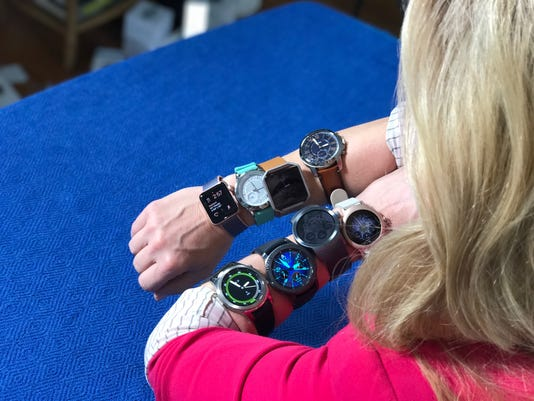 Jenn with all the watches 2017.JPG