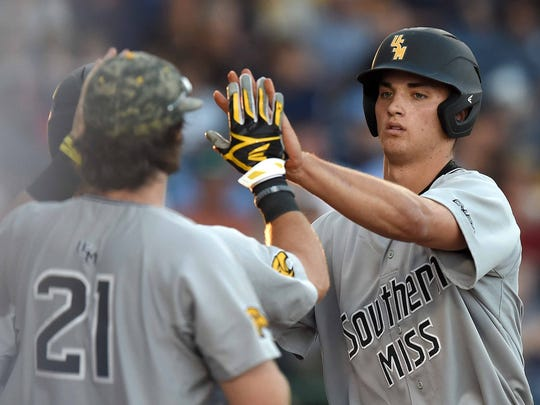 Southern Miss' Matt Wallner leads the team with 17 home runs this season.