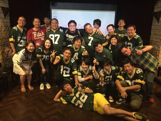 Japanese Packers fans gather in Tokyo for their annual Packers cheering party.