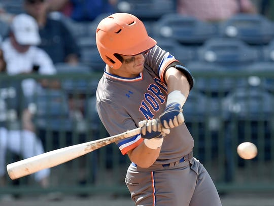 North Pontotoc's Corley Hooper hits St. Andrew's on