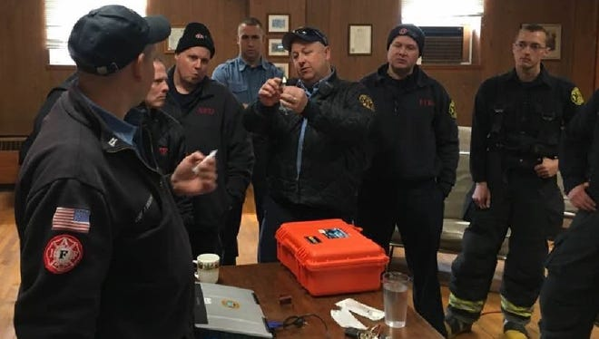 """Each of Edison Township's 136 career firefighters are now trained to administer the life-saving anti-opioid """"Naloxone"""" (Narcan), making Edison first fire department in Central New Jersey to do so."""