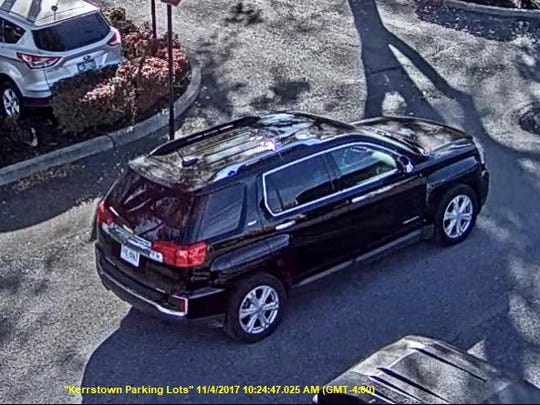 Chambersburg Police are searching for this vehicle in connection to several access device fraud cases which happened on Nov. 4.