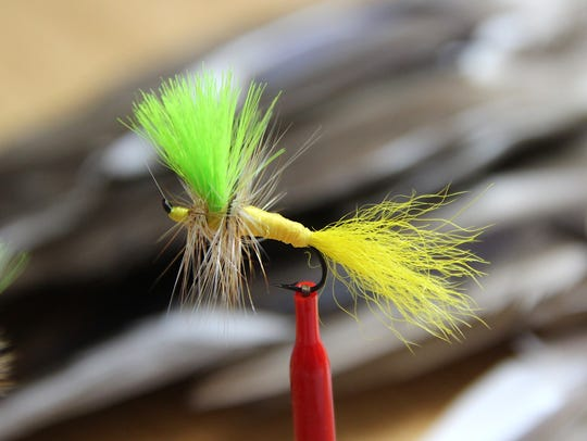 A Hart Washer, a dry fly named after former Green Bay