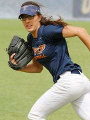 Former Hanks School athlete and current UTEP softball outfielder Ariel Blair goes through practice along with the rest of her teammates as they prepare for this weekends 3 game home stand against Southern Miss. Saturday and Sunday.