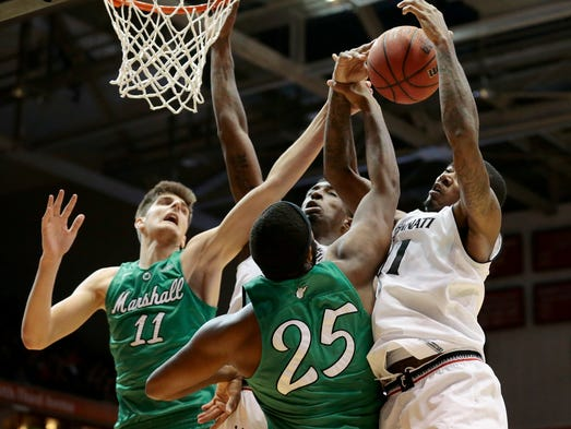 Uc rallies past marshall 93 91 in ot moves to 10 2 for Marshalls cincinnati oh