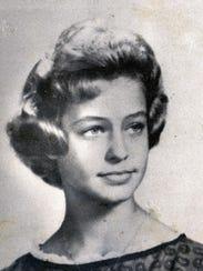Farrah Fawcett, 8th grade photo 1961