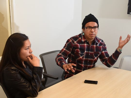 "Filmmakers Kolette Dayish, left, and Kody Dayish hope their new feature, ""The Red Hogan,"" inspires Navajo youth to pursue a creative endeavor of their own."