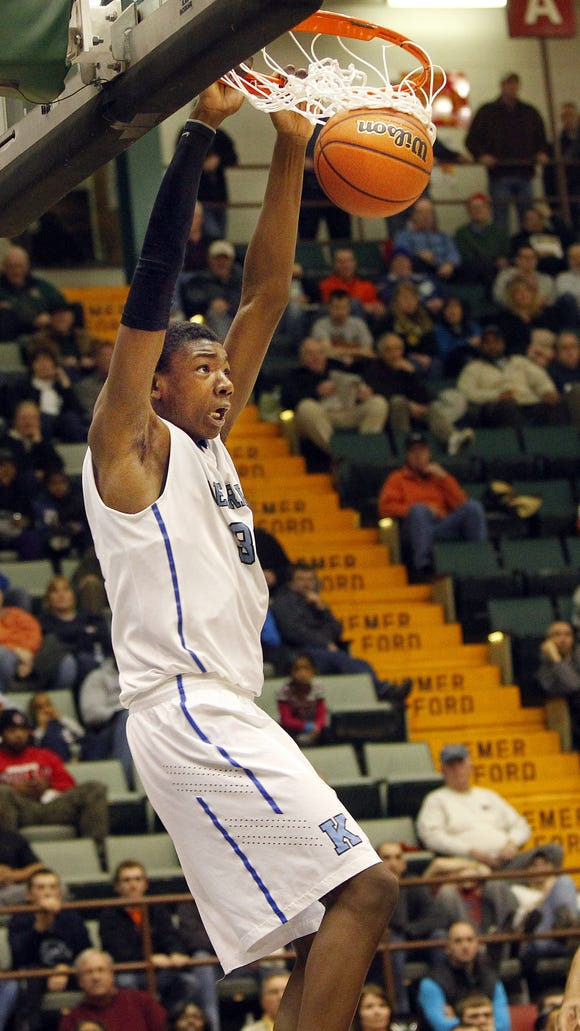 Thomas Bryant, shown dunking during the state Final Four at Bishop Kearney.