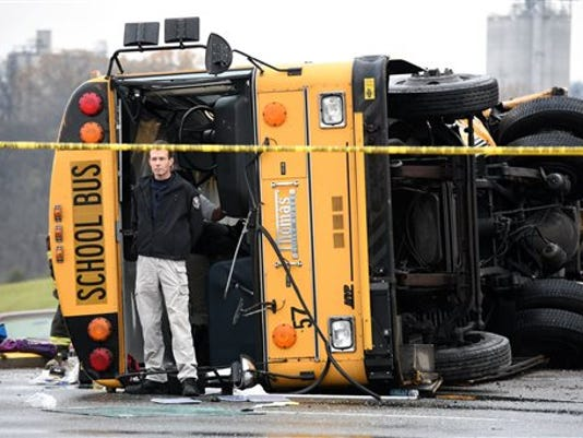 APTOPIX School Bus Crash