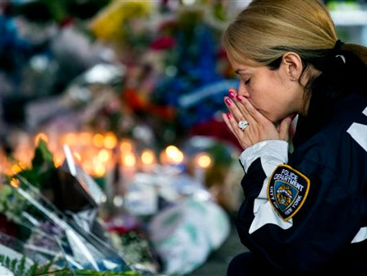 APTOPIX NYPD Officers Slain Developments