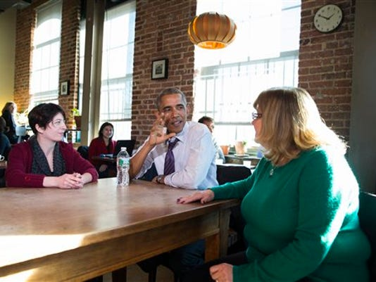 Barack Obama, Amanda Rothschild, Mary Stein