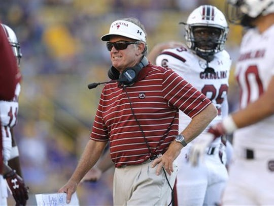In his first season as a college football head coach, Steve Spurrier, who retired just last week, lost to Rutgers in 1987.
