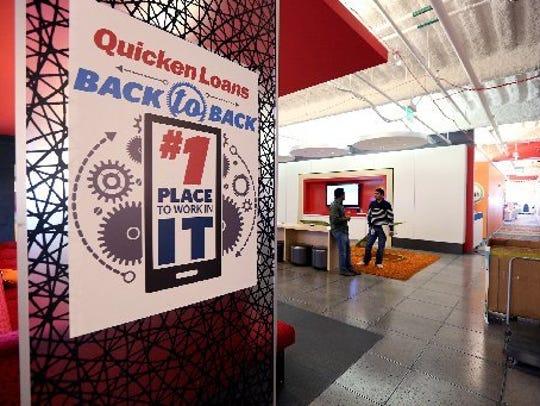 Quicken Loans' headquarters in downtown Detroit.