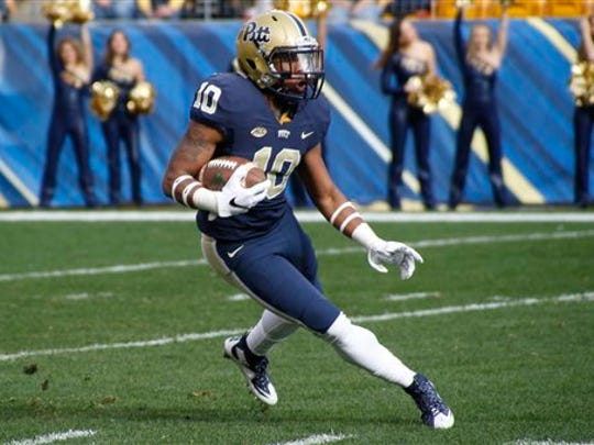 A.I. du Pont graduate Quadree Henderson and Pitt face Navy in the Military Bowl presented by Northrop Grumman.