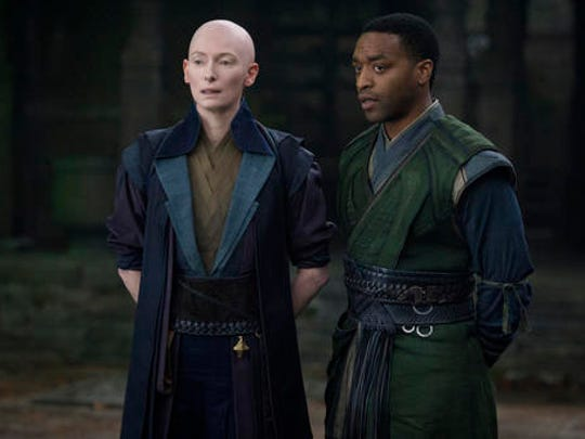 This image released by Disney shows Tilda Swinton,