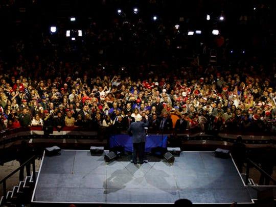 President-elect Donald Trump gestures as he speaks