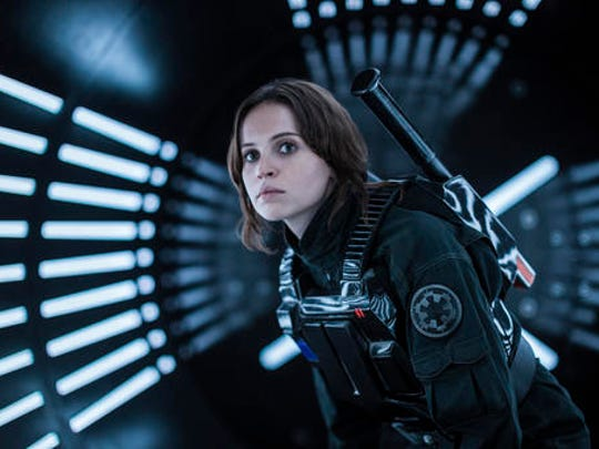 "This image released by Lucasfilm Ltd. shows Felicity Jones as Jyn Erso in a scene from, ""Rogue One: A Star Wars Story."""