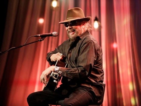 Hank Williams Jr. tapes a segment for Dolly Parton's Smoky Mountain Rise Telethon Tuesday, Dec. 13, 2016, in Nashville, Tenn. Parton has lined up an all-star list of performers for a three-hour telethon to raise money for thousands of people whose homes were damaged or destroyed in Tennessee wildfires.