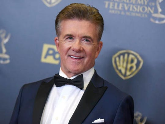 FILE - In this Sunday, April 26, 2015 file photo, Alan Thicke poses in the pressroom at the 42nd annual Daytime Emmy Awards at Warner Bros. Studios in Burbank, Calif. Alan Thicke's widow, Tanya Thicke, said on Tuesday, Dec. 20, 2016, that the actor was buried the previous day.