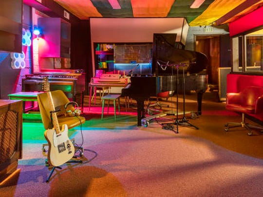 This Sept. 20, 2016 photo released by the Alabama Tourism Department, shows the interior of the renovated Muscle Shoals Sound Studio in Sheffield, Ala. Once used by recording artists including the Rolling Stones and Bob Dylan, the studio is reopening for tours in January and has been named Alabama's top tourist attraction for 2017.