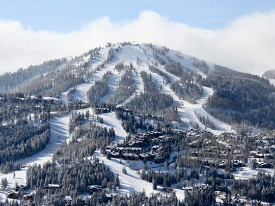This undated photo provided by Deer Valley Resort in Park City, Utah, shows the snowy slopes of Bald Mountain. The luxury resort is a popular destination for stars heading to the annual Sundance Film Festival but it's Deer Valley's untracked snow that advanced skiers prize, with powder stashes in the trees that are about as good as they get.