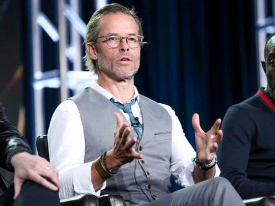 """Guy Pearce speaks at the """"When We Rise"""" panel at the Disney/ABC portion of the 2017 Winter Television Critics Association press tour on Tuesday, Jan. 10, 2017, in Pasadena, Calif."""