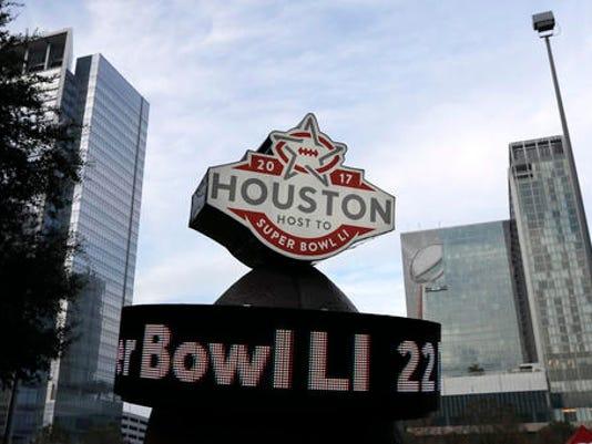 Super Bowl LI sign