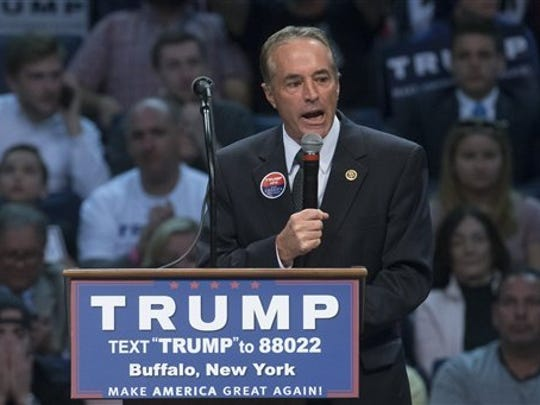Rep. Chris Collins was the first Congressional representative to endorse Donald Trump for president.