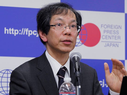 Akira Ohtsuru, Director, Department of the Thyroid Ultrasound Examination, Radiation Medical Science Center for the Fukushima Health Management Survey, speaks during a media conference in Tokyo, Thursday, March 9, 2017. Doctors say over 180 thyroid cancer cases among Fukushima youngsters found since the nuclear accident cannot be linked to radiation, which they say is not the region's biggest cause of health problems.