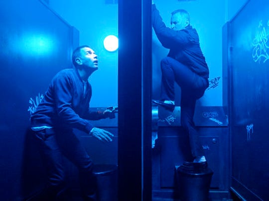 "This image released by TriStar Pictures shows Ewan McGregor, left, and Robert Carlyle in a scene from ""T2: Trainspotting."""