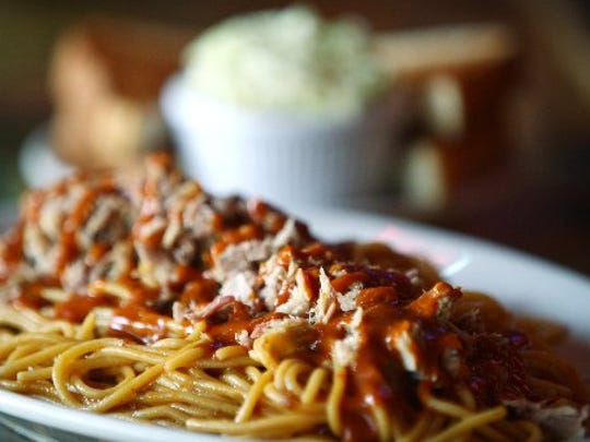 For an out-of-the-ordinary barbecue experience in Memphis, sample the barbecue spaghetti at the Bar-B-Q Shop on Madison.
