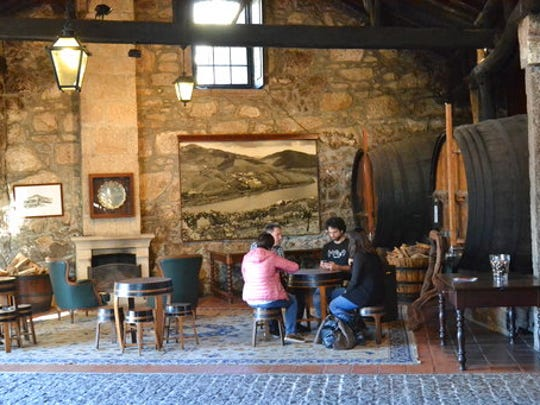 This Feb. 21, 2017 photo shows the tasting room at the Croft port wine house in Vila Nova de Gaia, Portugal. Croft was founded in 1588.